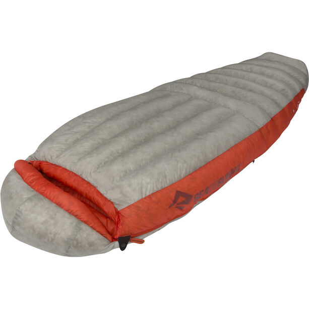 Sea to Summit Flame Fm III Sleeping Bag long Women light grey/paprika