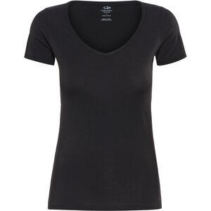 Icebreaker Siren SS Sweetheart Shirt Dam black black