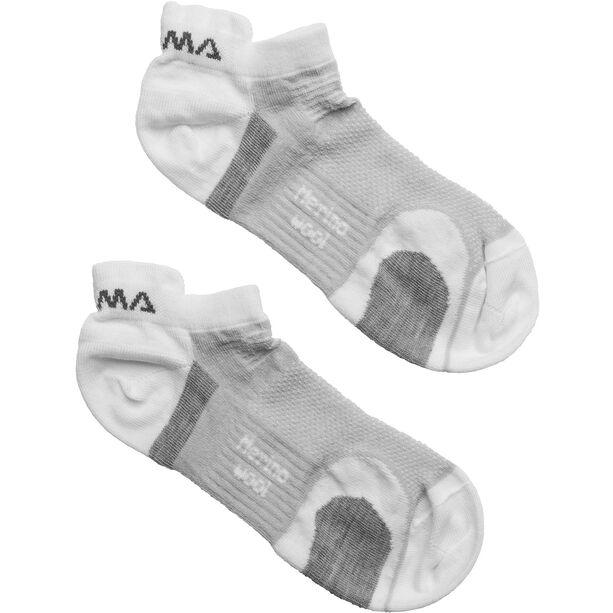 Aclima Ankle Socks 2-Pack white/grey