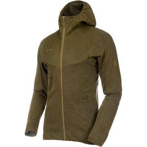 Mammut Alvra ML Hooded Jacket Herr olive melange-pink olive melange-pink