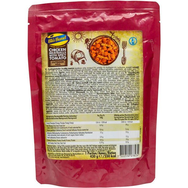 Blå Band Outdoor Meal 430g Chicken meatballs with spicy tomato