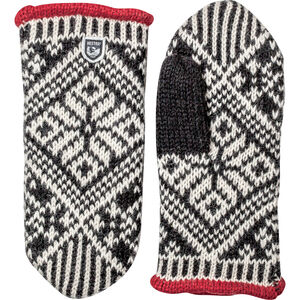 Hestra Nordic Wool Mittens black/offwhite black/offwhite