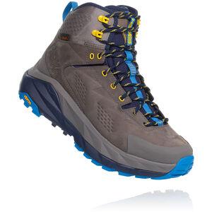 Hoka One One Sky Kaha Hiking Shoes Herr charcoal grey/blue charcoal grey/blue
