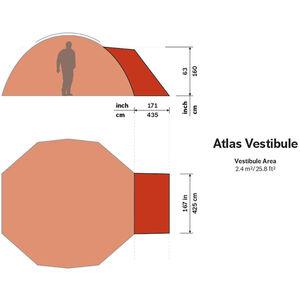 Hilleberg Atlas Vestibule röd röd