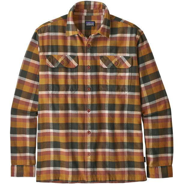 Patagonia Fjord LS Flannel Shirt Herr observer/wren gold