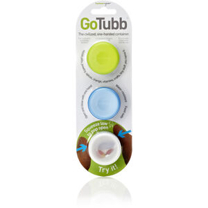 humangear GoTubb Small Travel Accessorie 3-Pack clear/green/blue clear/green/blue