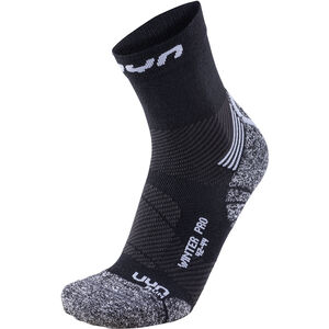 UYN Winter Pro Run Socks Herr black/pearl grey black/pearl grey