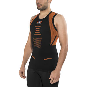 X-Bionic The Trick Running Singlet Herr black/orange shiny black/orange shiny