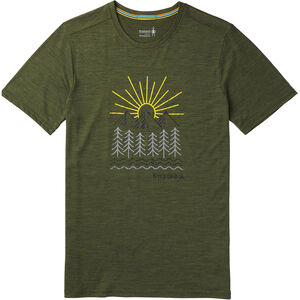 Smartwool Merino Sport 150 Mountain Morning Tee Herr moss green heather moss green heather