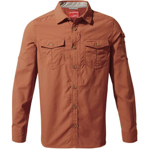 Craghoppers NosiLife Adventure II Long Sleeved Shirt Herr burnt whisky burnt whisky