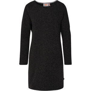 Varg Fårö Long Wool Dress Dam dark anthracite dark anthracite