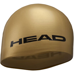 Head Silicone Moulded Swimcap gold gold