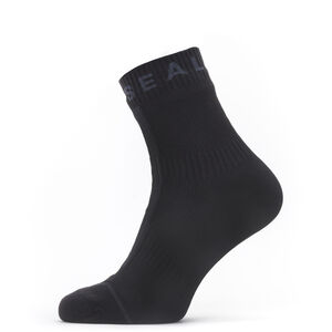 Sealskinz Waterproof All Weather Ankle Socks with Hydrostop Black/Grey Black/Grey