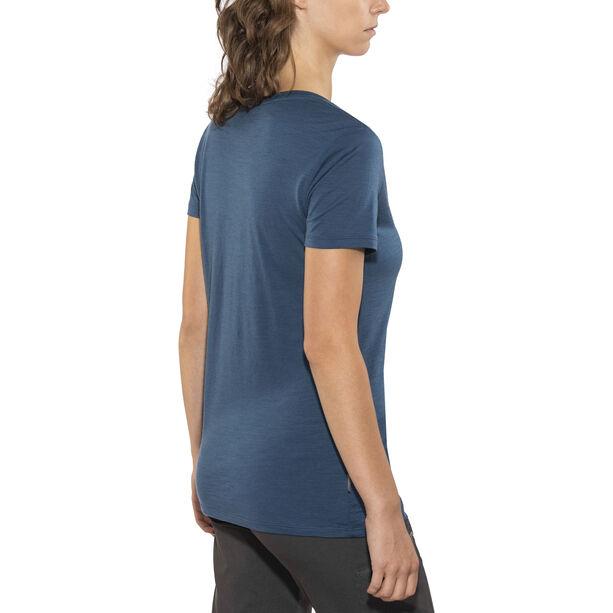 Icebreaker Tech Lite SS Scoop Shirt Dam prussian blue