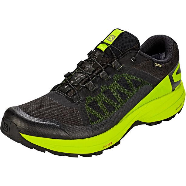 Salomon XA Elevate GTX Shoes Herr black/lime green/black