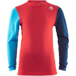 Aclima LightWool LS Crew Neck Shirt Barn high risk red/ blithe/insignia blue high risk red/ blithe/insignia blue