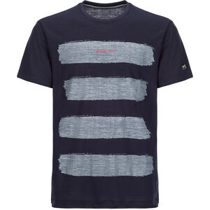 super.natural 140 Graphic Tee Herr blue black/stripes print var1 blue black/stripes print var1