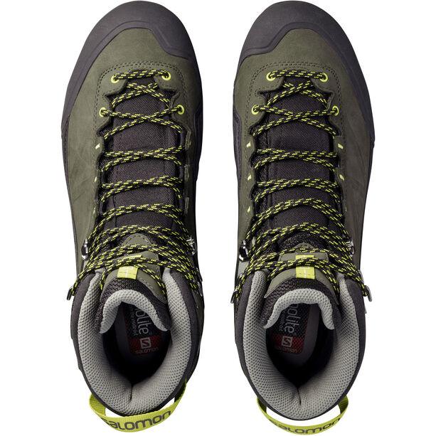 Salomon X Alp MTN GTX Shoes Herr black/beluga/lime punch
