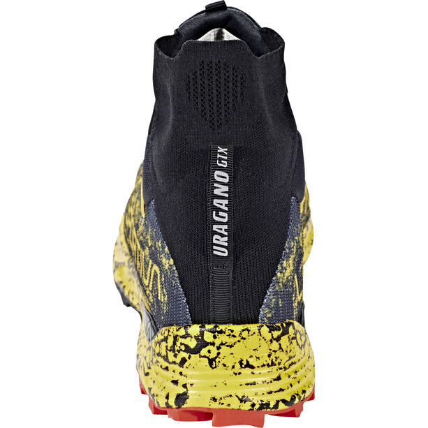 La Sportiva Uragano GTX Trail Running Shoes Herr black/yellow