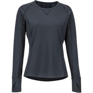 Marmot Lana Lightweight LS Crew Shirt Dam black black