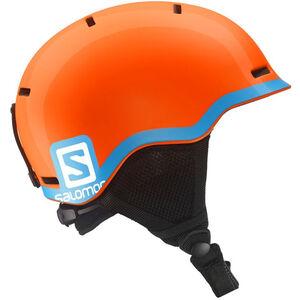Salomon Grom Helmet Barn fluo orange/blue fluo orange/blue