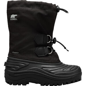 Sorel Super Trooper Boots Ungdomar Black/Light Grey Black/Light Grey