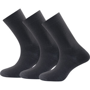 Devold Daily Medium Socks 3 Pack black black