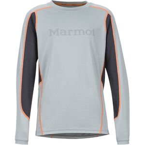 Marmot Windridge LS with Graphic Pojkar grey storm/dark steel grey storm/dark steel