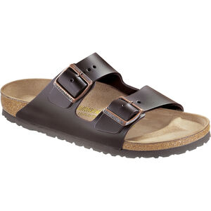 Birkenstock Arizona Sandals Natural Leather dark brown dark brown