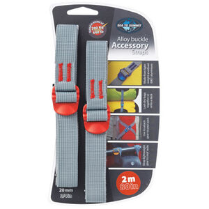 Sea to Summit Tie Down Accessory Strap with Hook 20mm 2m red red