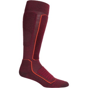 Icebreaker Ski+ Medium OTC Socks Herr Cabernet/Jet Heather Cabernet/Jet Heather