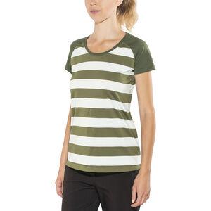 Bergans Filtvet Tee Dam white/khaki green striped/seaweed white/khaki green striped/seaweed