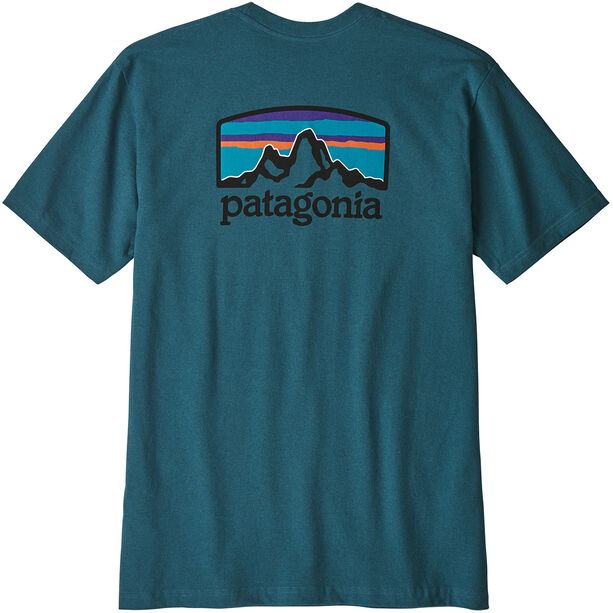 Patagonia Fitz Roy Horizons Responsibili Tee Herr tasmanian teal
