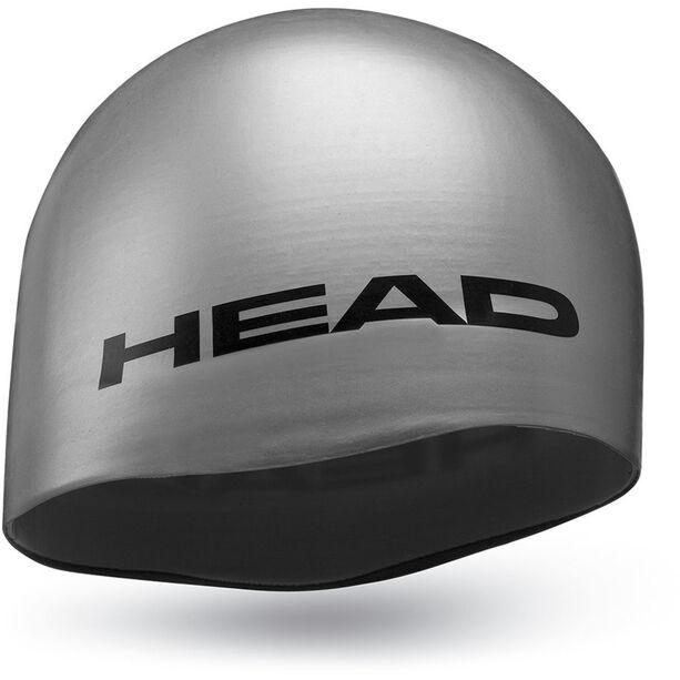 Head Silicone Moulded Swimcap silver