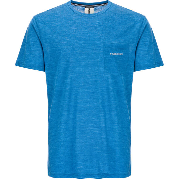 super.natural Movement T-shirt Herr vallarta blue melange