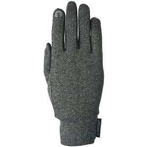 Extremities Herringbone Touch Liner Gloves charcoal charcoal