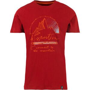La Sportiva Connect T-shirt Herr chili chili