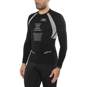 X-Bionic The Trick Running Shirt LS Herr black/white black/white