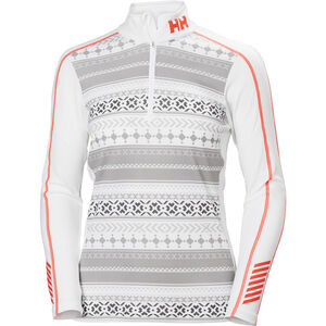 Helly Hansen Lifa Active Graphic 1/2 Zip Shirt Dam White White