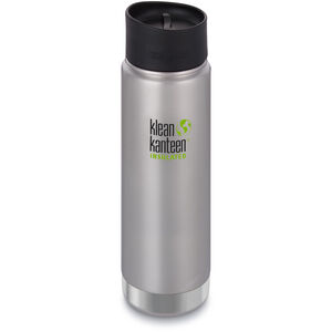 Klean Kanteen Wide Vacuum Insulated Bottle Café Cap 2.0 592ml brushed stainless brushed stainless