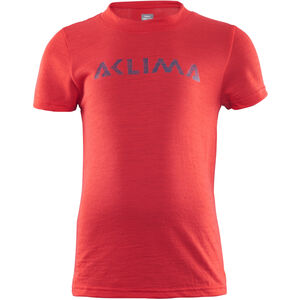 Aclima LightWool T-Shirt Barn high risk red high risk red