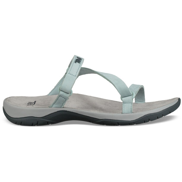 Teva Elzada Slide Leather Sandals Women gray mist