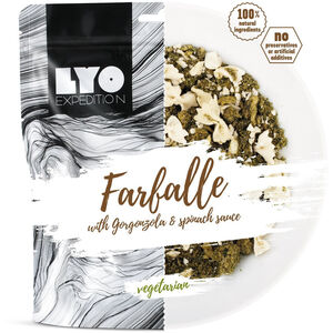 Lyofood Farfalle with Gorgonzola and Spinach Sauce Big Pack 132g