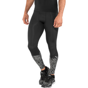 2XU Reflect Run Tights with Back Stor Herr black/silver lightbeams reflec black/silver lightbeams reflec