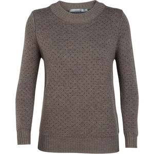 Icebreaker Waypoint Crewe Sweater Dam toast heather/char heather toast heather/char heather