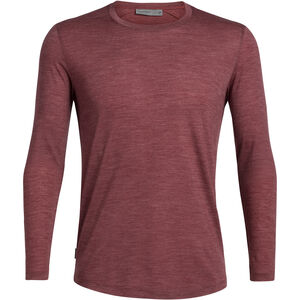 Icebreaker Sphere LS Crewe Shirt Herr cabernet heather cabernet heather