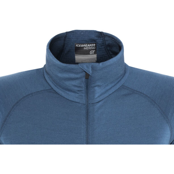 Icebreaker Fluid Zone LS Zip Shirt Dam prussian blue/midnight navy