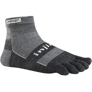 Injinji Outdoor Midweight Mini-Crew NuWool Socks charcoal and black charcoal and black