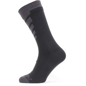 Sealskinz Waterproof Warm Weather Mid Socks Black/Grey Black/Grey