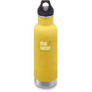 Klean Kanteen Classic Vacuum Insulated Bottle Loop Cap 592ml lemon curry matt lemon curry matt